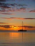 Puesta del sol en la isla de fraser Fotos de archivo libres de regalías