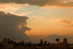 Puesta del sol en la isla de Kos Foto de archivo libre de regalías