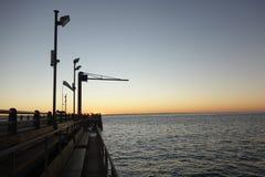 Puesta del sol en la isla de Moreton Fotografía de archivo libre de regalías