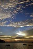 Puesta del sol en la isla de Pankor Fotos de archivo