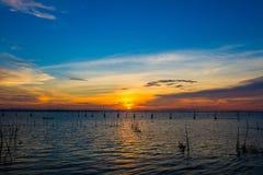 Puesta del sol en la isla del yor de la KOH Foto de archivo