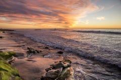 Puesta del sol en La Jolla foto de archivo libre de regalías
