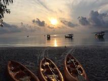 Puesta del sol en la KOH RONG Fotos de archivo libres de regalías