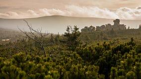 Puesta del sol en la montaña de Giants Imagen de archivo libre de regalías