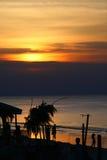 Puesta del sol en la Palm Beach Fotografía de archivo
