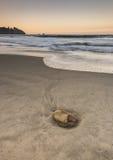 Puesta del sol en la playa Imagen de archivo libre de regalías