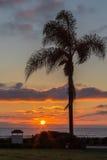 Puesta del sol en la playa de Coronado en California fotografía de archivo