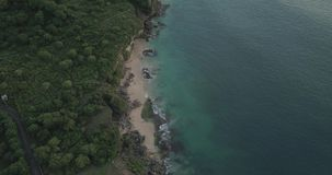 Puesta del sol en la playa de Tegalwangi, Bali almacen de metraje de vídeo