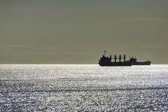 Puesta del sol en la playa de Vancouver Foto de archivo