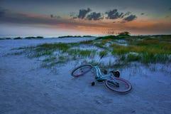 Puesta del sol en la playa en la Florida, los E.E.U.U. Imagen de archivo libre de regalías