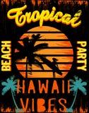 Puesta del sol en la playa tropical Hawaii Foto de archivo