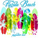 Puesta del sol en la playa tropical la Florida libre illustration
