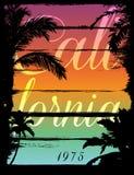 Puesta del sol en la playa tropical Los Ángeles California ilustración del vector