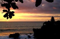 Puesta del sol en la porción #2 de Tanah Foto de archivo