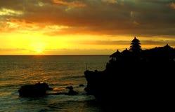 Puesta del sol en la porción de Tanah imagen de archivo libre de regalías