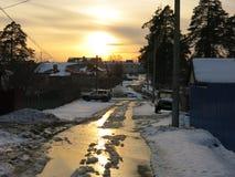 Puesta del sol en la primavera Fotografía de archivo libre de regalías