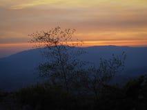 Puesta del sol EN la tarde Imagen de archivo