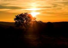 Puesta del sol en la tierra de Italia Foto de archivo