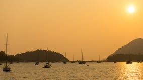 Puesta del sol en Langkawi Imágenes de archivo libres de regalías