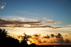 Puesta del sol en las islas Imagenes de archivo