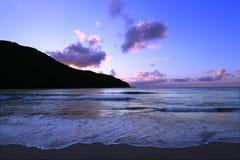 Puesta del sol en las Islas Vírgenes de Tortola Fotografía de archivo libre de regalías
