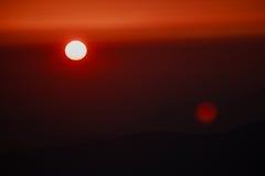 Puesta del sol en las montañas de Bucegi Fotografía de archivo libre de regalías