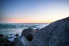 Puesta del sol en las playas del golfo Fotografía de archivo libre de regalías