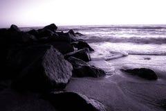 Puesta del sol en las playas del golfo Imagen de archivo