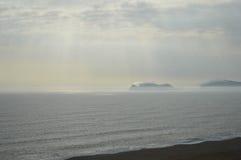 Puesta del sol en Lima Imagen de archivo