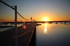 Puesta del sol en Lisboa Portugal Fotos de archivo libres de regalías