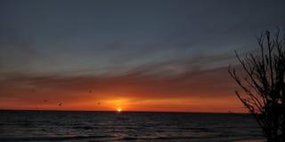Puesta del sol en Lituania foto de archivo libre de regalías