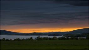 Puesta del sol en Loch Lomond - Escocia Imagen de archivo