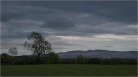 Puesta del sol en Loch Lomond - Escocia Imagenes de archivo