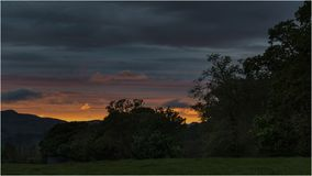 Puesta del sol en Loch Lomond - Escocia Fotografía de archivo libre de regalías