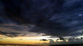 Puesta del sol en Lombok Imágenes de archivo libres de regalías