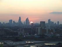 Puesta del sol en Londres Foto de archivo