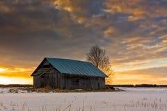 Puesta del sol en los campos Nevado Fotografía de archivo libre de regalías