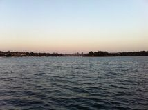 Puesta del sol en los lagos Imagen de archivo libre de regalías