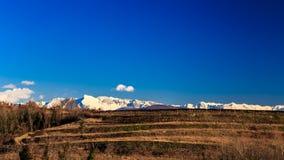 Puesta del sol en los viñedos de Collio, Italia Imágenes de archivo libres de regalías