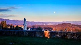 Puesta del sol en los viñedos de Rosazzo Imagen de archivo libre de regalías