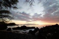 Puesta del sol en Makena Bay Fotografía de archivo