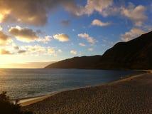 Puesta del sol en Makua Fotos de archivo libres de regalías