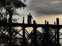 Puesta del sol en Mandalay Fotos de archivo