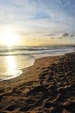 Puesta del sol en Marbella Fotos de archivo libres de regalías