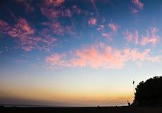 Puesta del sol en Marbella Imagen de archivo libre de regalías