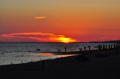 Puesta del sol en Maremma Foto de archivo