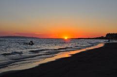 Puesta del sol en Maremma Foto de archivo libre de regalías