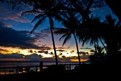 Puesta del sol en Maui Foto de archivo