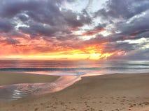 Puesta del sol en Maui Imágenes de archivo libres de regalías
