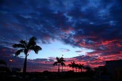 puesta del sol en Mauricio imagen de archivo libre de regalías